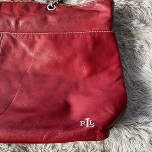 Medium size red leather Ralph Lauren Purse